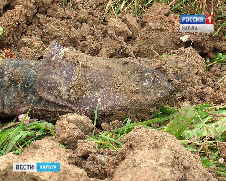 ВОбнинске рабочие откопали труп вполиэтилене