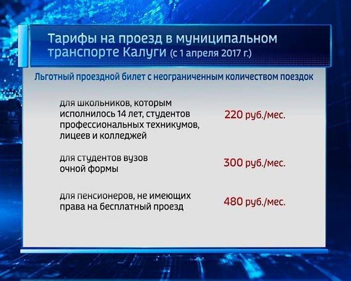 ВКалуге на37% поднялись тарифы напроезд вобщественном транспорте